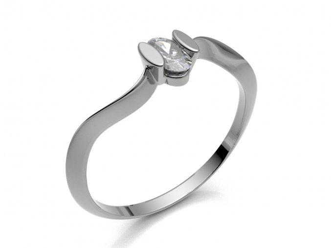 Zlatý prsten zvlněný kroužek 2301601