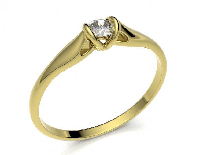 Zlatý zásnubní prsten 2301701