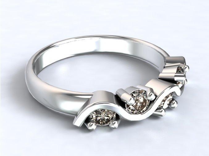 Stříbrný prsten vlnovka 312001