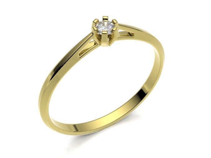 Zlatý zásnubní prsten 2302001
