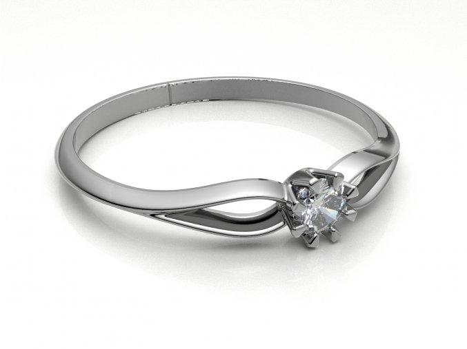 Zlatý zásnubní prsten do soupravy se snubním 2302201