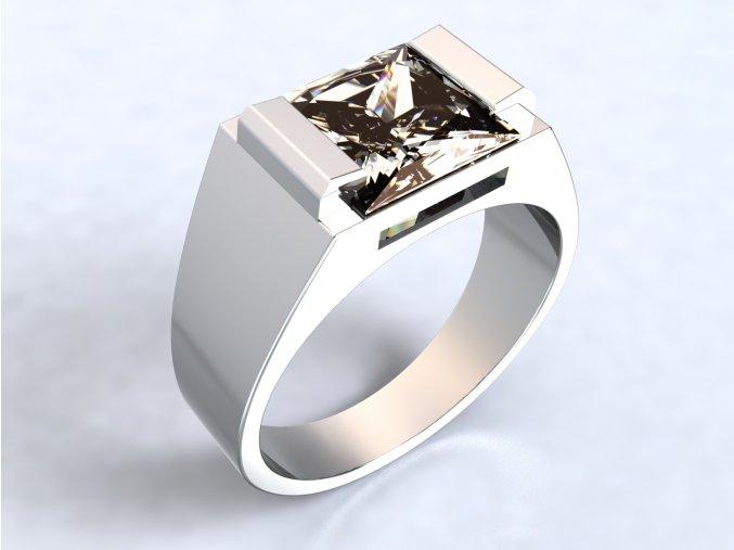 Stříbrný prsten dlouhé krapny 312201