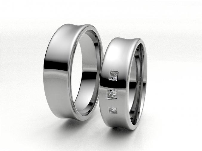 Bílé Au585 snubní prsteny 3300101