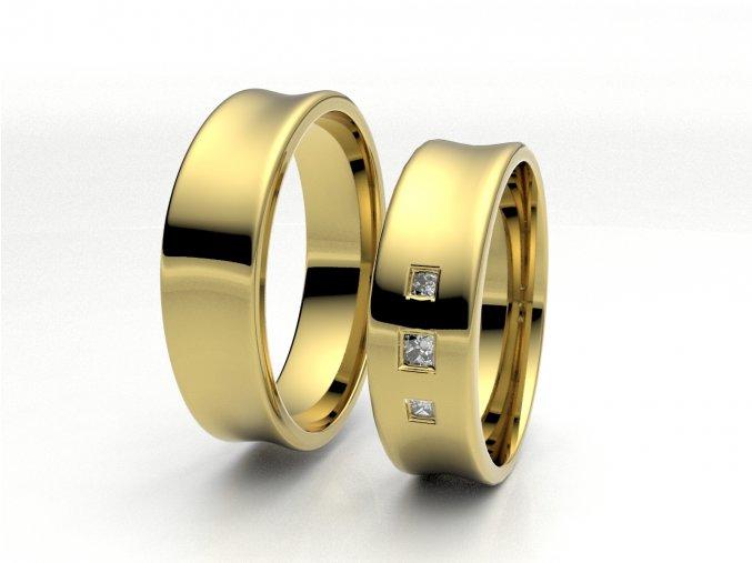 Snubní prsteny žluté zlato 3300102