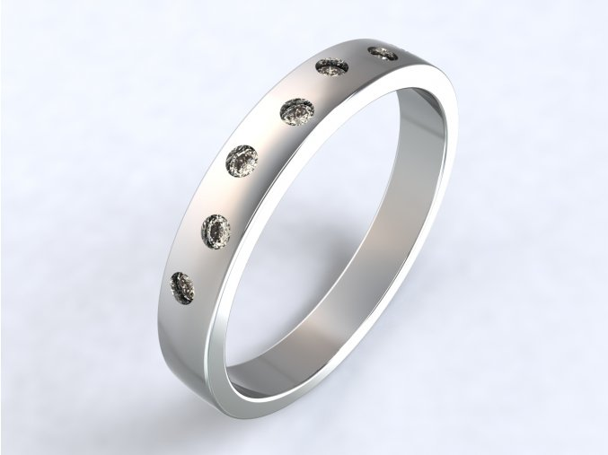 Prsten sedm zirkonů stříbrný