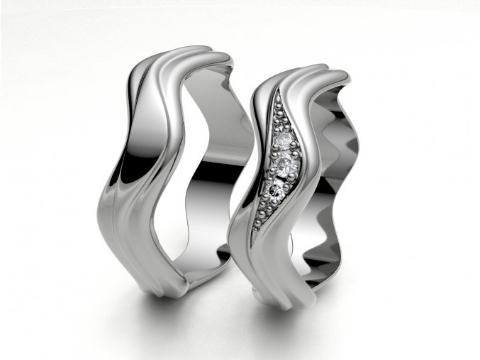 Snubní prsteny bílé zlato 3300201