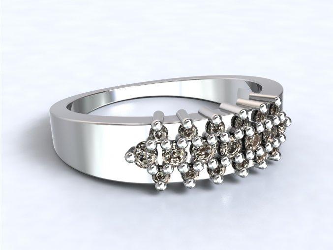 Stříbrný prsten ježek
