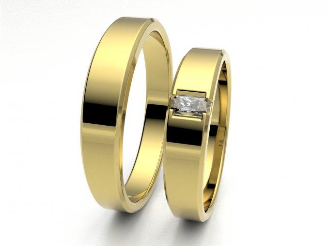 Žluté Au585 snubní prsteny 3300402
