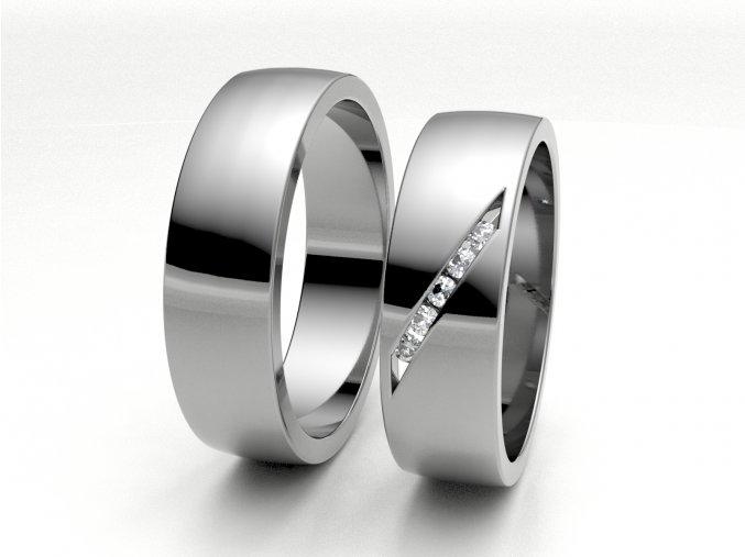 Bílé Au585 snubní prsteny 3300701