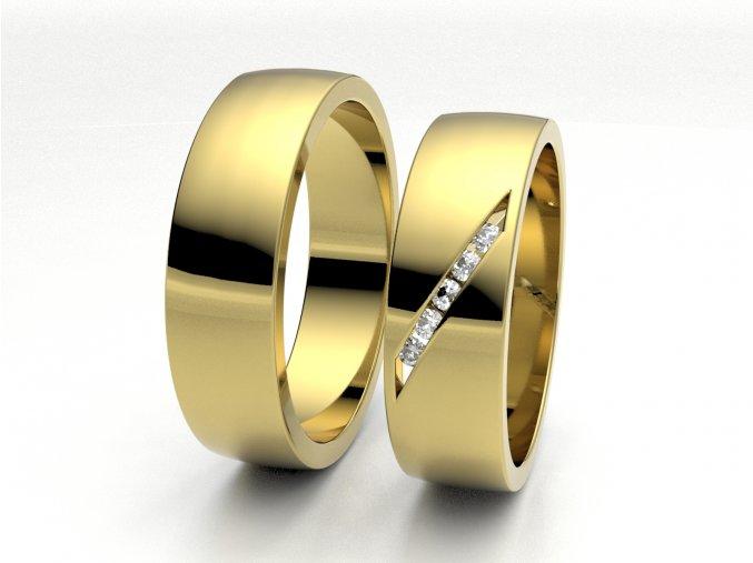 Žluté Au585 snubní prsteny 3300702