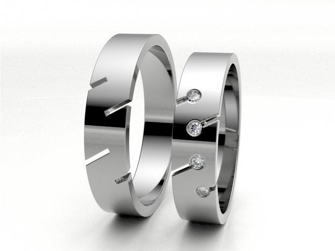 Snubní prsteny bílé zlato 3300801