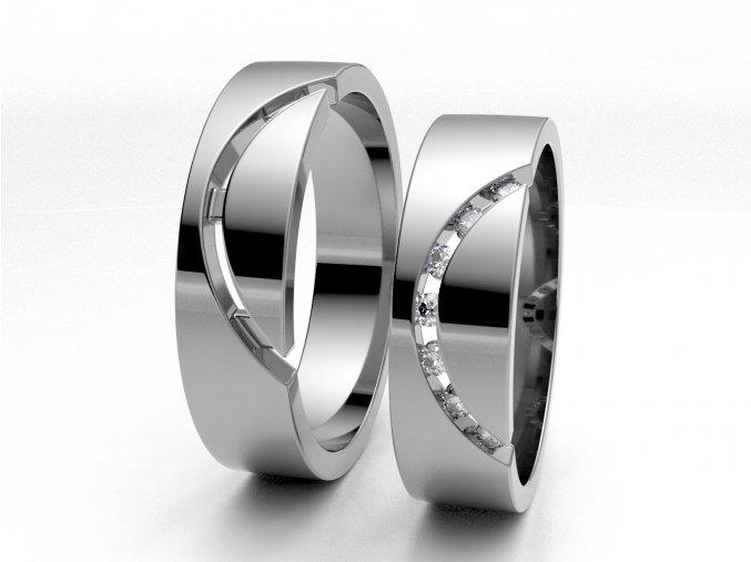 Bílé Au585 snubní prsteny 3300901