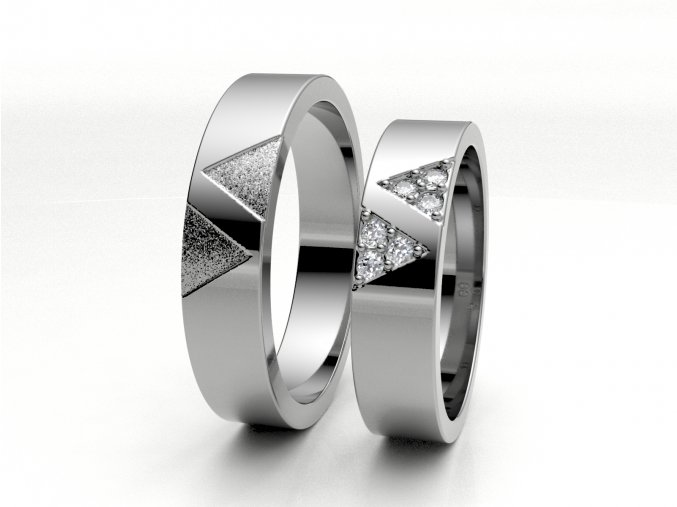 Snubní prsteny bílé zlato 3301101