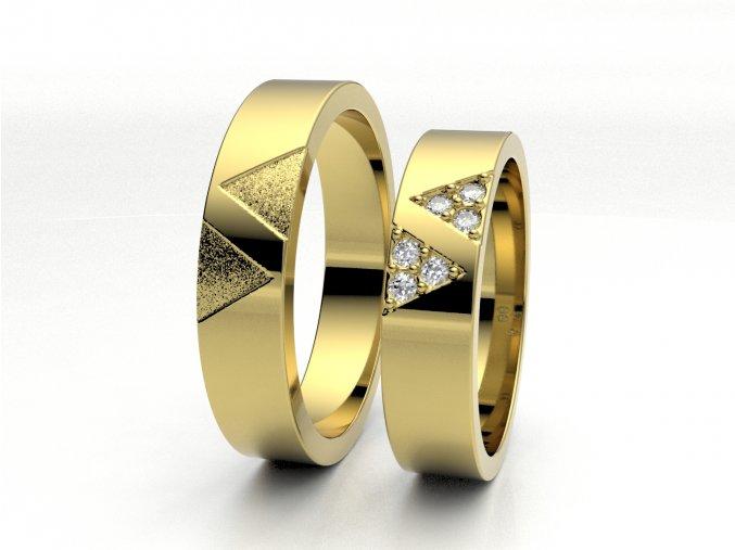 Žluté Au585 snubní prsteny 3301102