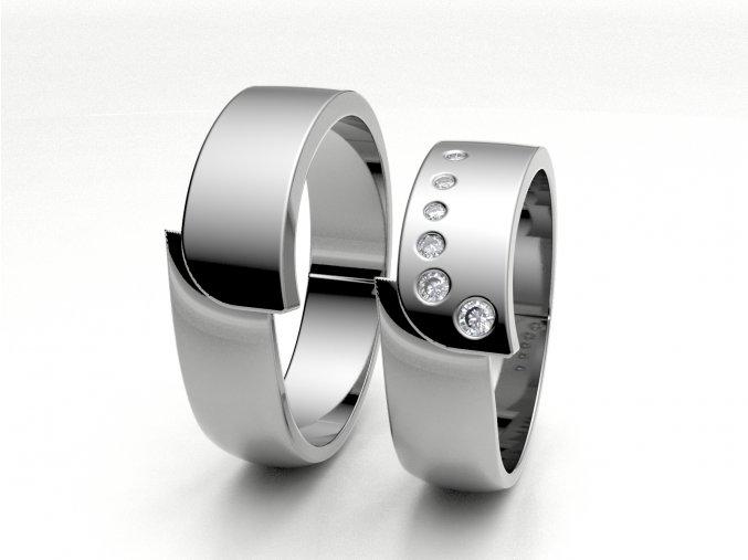 Bílé Au585 snubní prsteny 3301201
