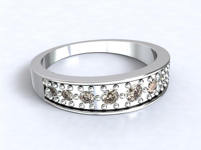 Stříbrný prsten čelenka