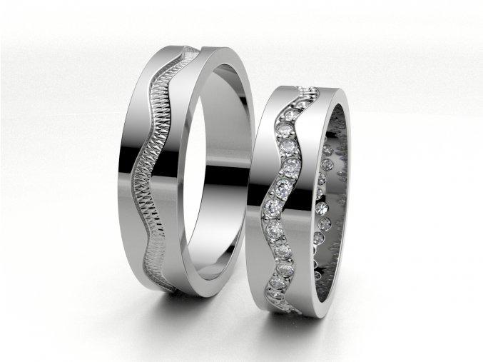 Bílé Au585 snubní prsteny 3301301