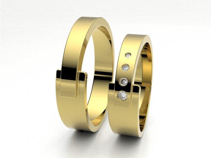 Snubní prsteny žluté zlato 3301402