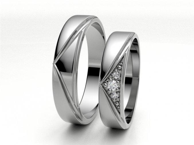Bílé Au585 snubní prsteny 3301601