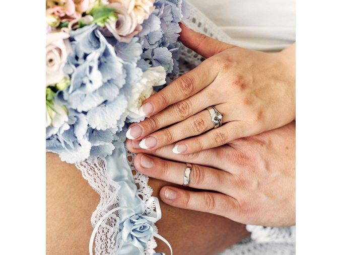 Bílé Au585 snubní prsteny 3302301