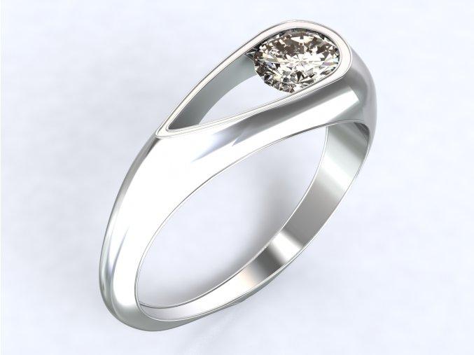 Stříbrný prsten kapka