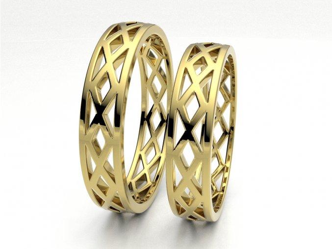 Žluté Au585 snubní prsteny 3303302