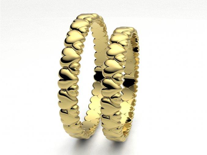 Snubní prsteny žluté zlato 3303402