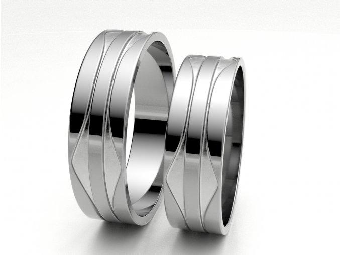 Snubní prsteny bílé zlato 3303601