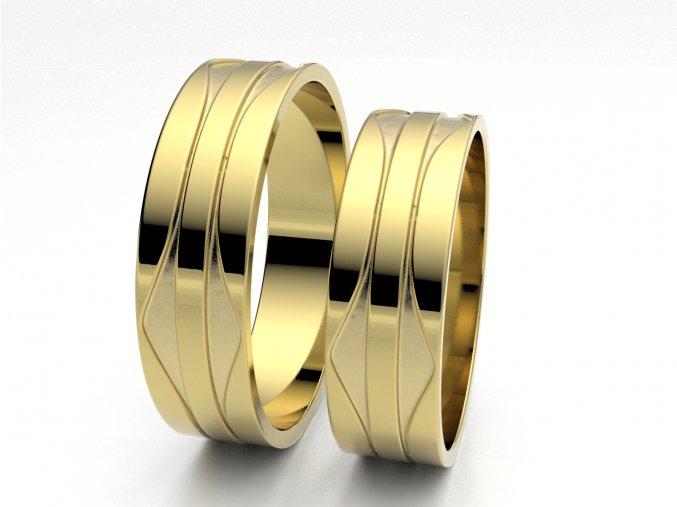 Žluté Au585 snubní prsteny 3303602