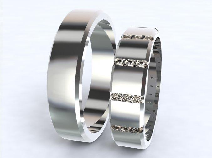 Snubní prsteny bílé zlato 3304101