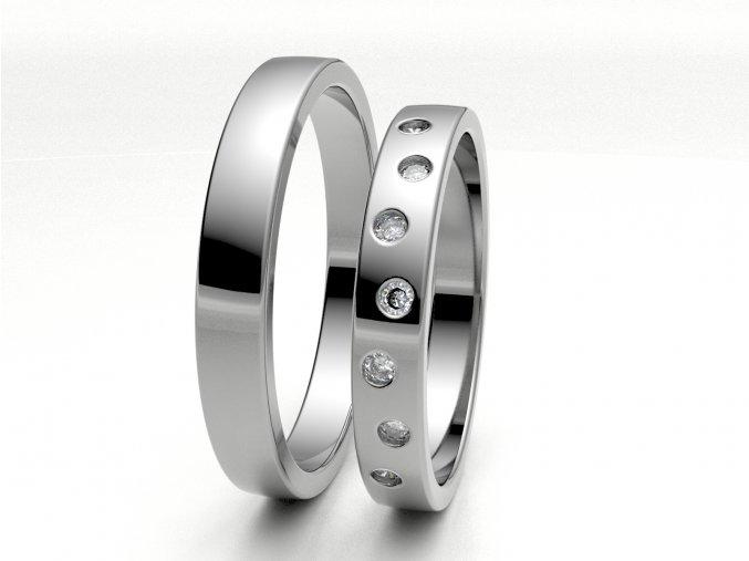 Bílé Au585 snubní prsteny 3304201