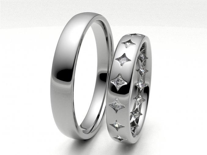 Snubní prsteny bílé zlato 3304501