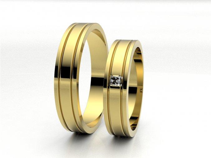 Žluté Au585 snubní prsteny 3304702