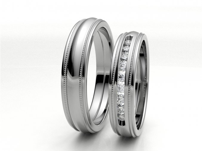Bílé Au585 snubní prsteny 3304801