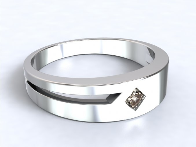 Stříbrný prsten čtverec 313701