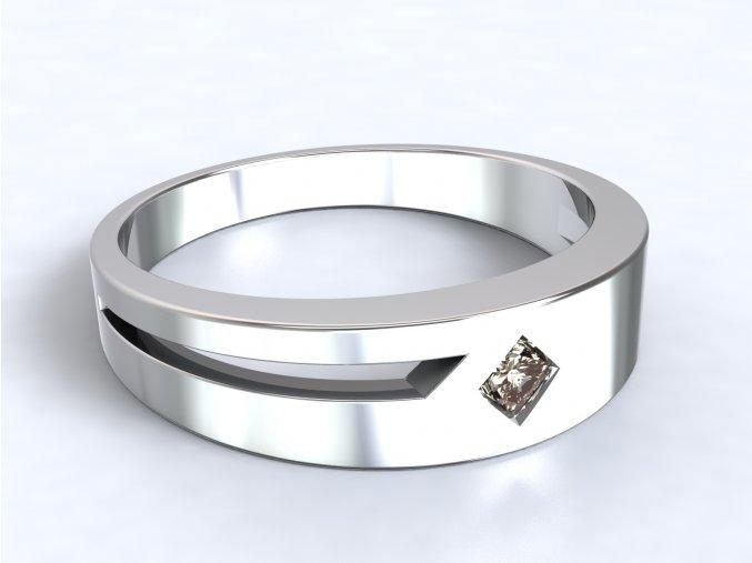 Stříbrný prsten čtverec