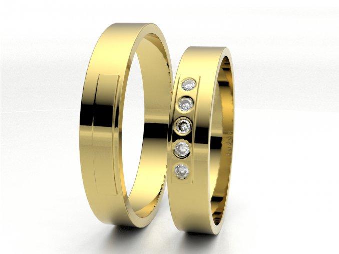 Žluté Au585 snubní prsteny 3304902