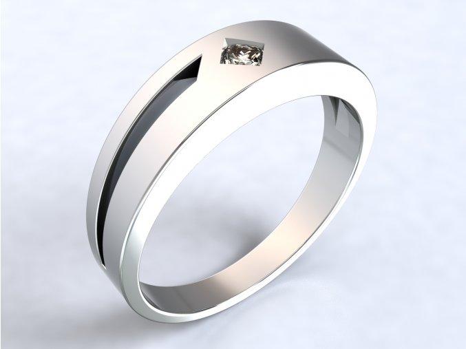 Ag925 prsten čtverec a díra