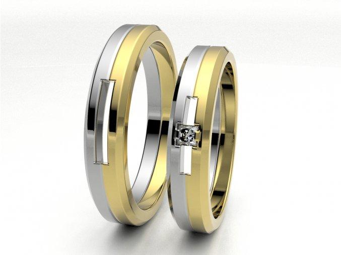 Dvojbarevné snubní prsteny 3305403