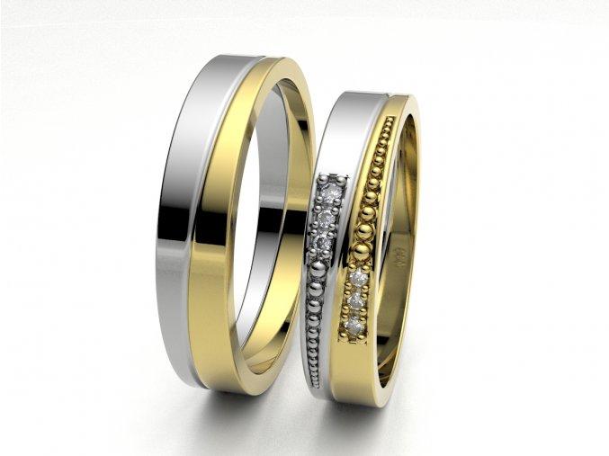 Dvojbarevné snubní prsteny 3305503