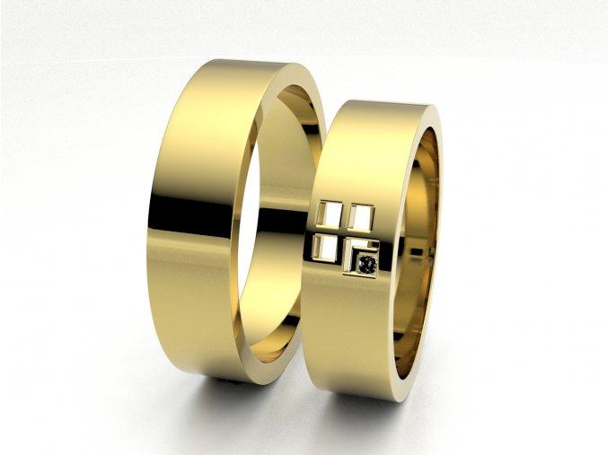 Žluté Au585 snubní prsteny 3305802