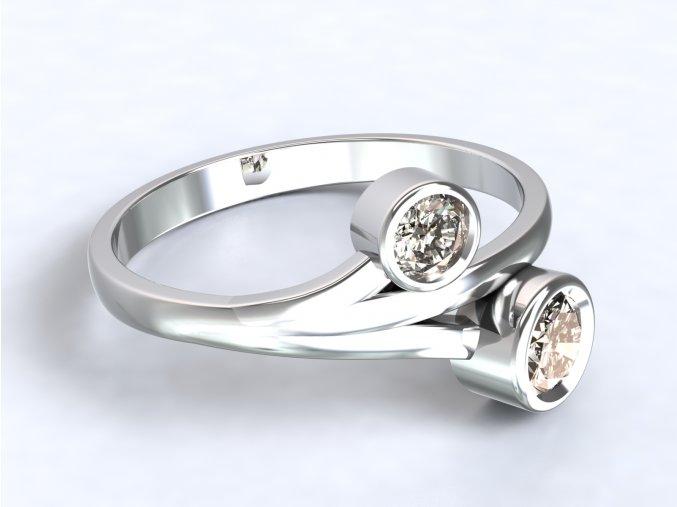 Stříbrný prsten poupata