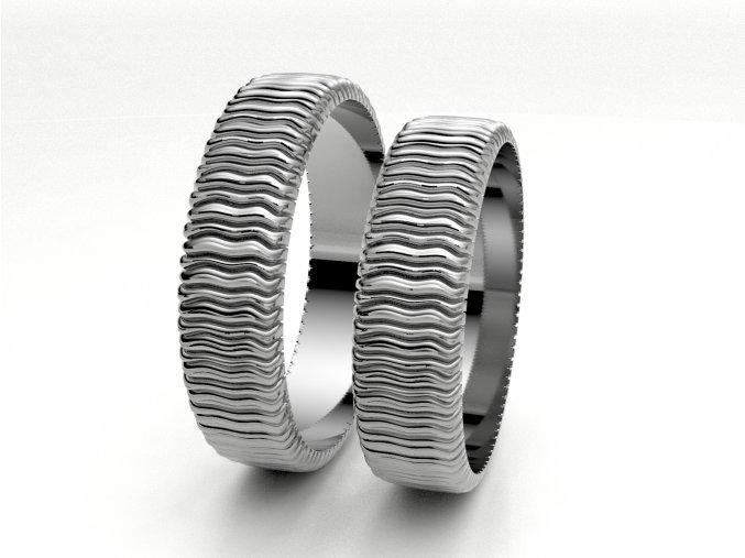 Snubní prsteny bílé zlato 3306101