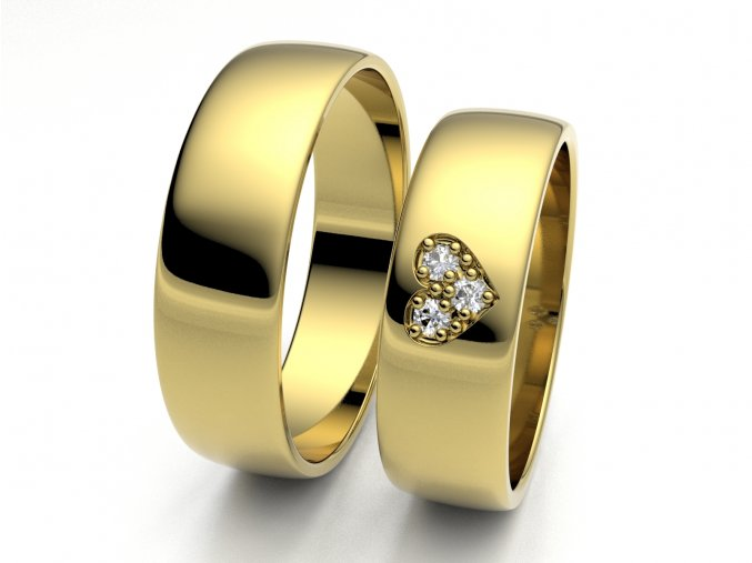Snubní prsteny žluté zlato 3306202