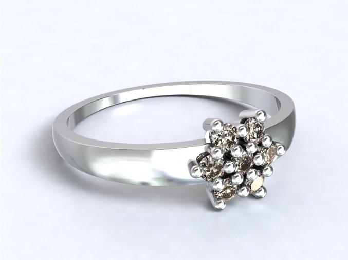 Stříbrný prsten pomněnka