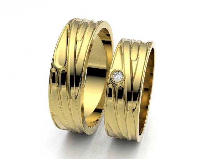 Snubní prsteny žluté zlato 3306502