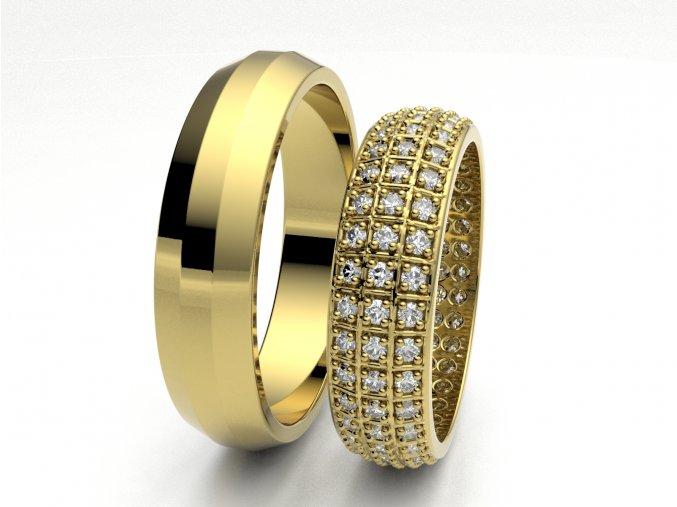 Snubní prsteny žluté zlato 3306602