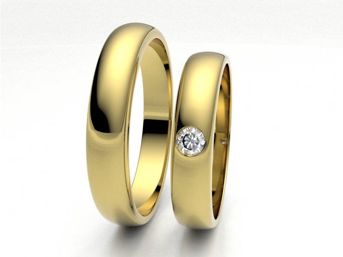 Snubní prsteny žluté zlato 3306702