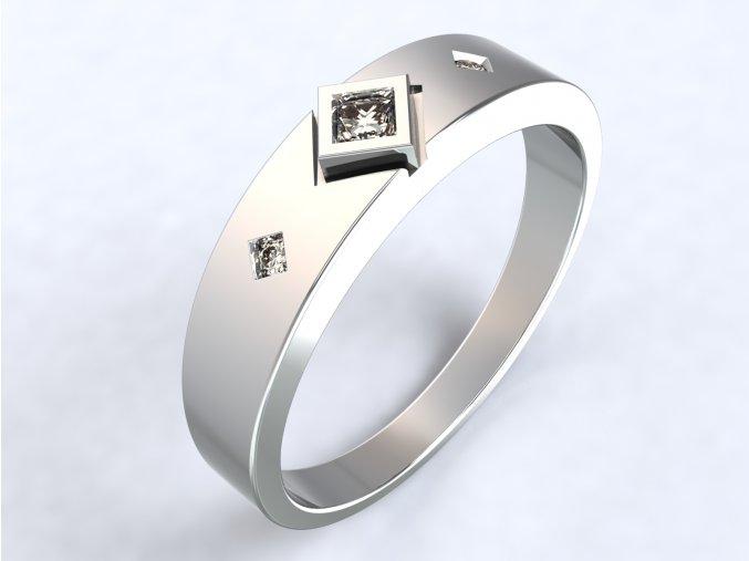 Stříbrný prsten Fany