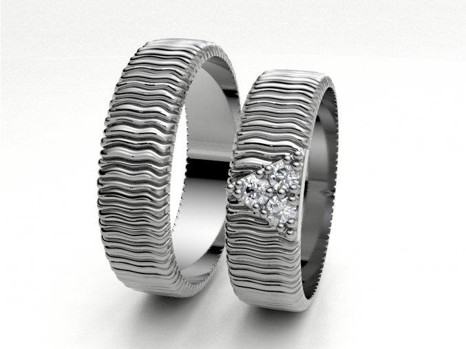 Snubní prsteny bílé zlato 3307001